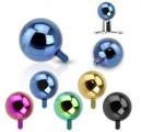Piercing microdermal modrý