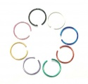 Falešný piercing kroužek zelený