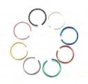 Falešný piercing kroužek modrý