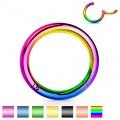 Piercing segment kroužek otevírací duhový