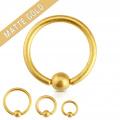 Piercing kroužek matný zlatý